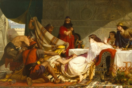 Painting: The Festival of Esther,1865 Edward Armitage, Royal Academy of Arts
